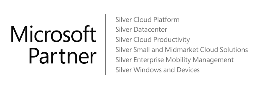 Microsoft partner | Silver Cloud Platform, Silver Datacenter, Silver Cloud Productivity, SIlver Small and Midmarket Cloud Solutions, Silver Enterprise Mobility Management, Silver Windows and Devices